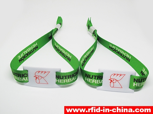 Disposable & Reusable RFID Metal Clasp Fabric Wristbands-01