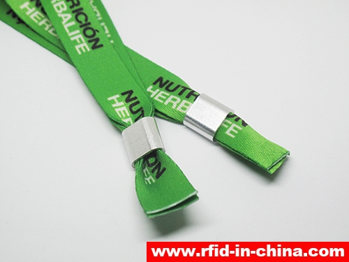 Disposable & Reusable RFID Metal Clasp Fabric Wristbands-03