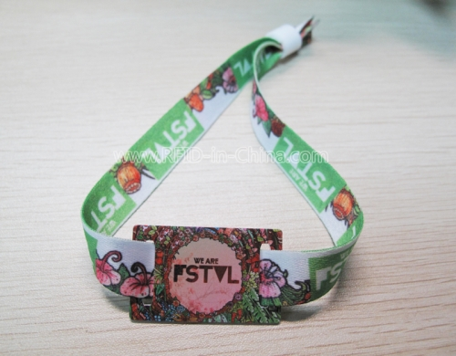 Disposable Fabric RFID Wristbands For Festival Management-02