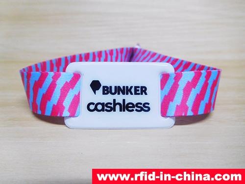 Fabric RFID Cashless Payment Wristband-02