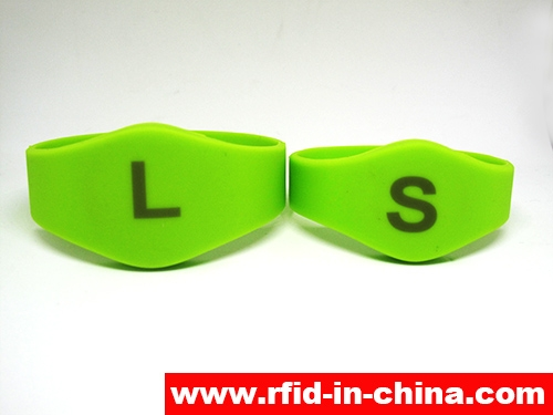 Laser Printing LF/HF RFID Silicon Wristbands-70-03