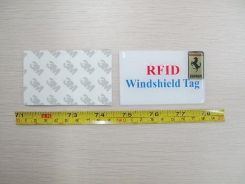 RFID windshield sticker tag