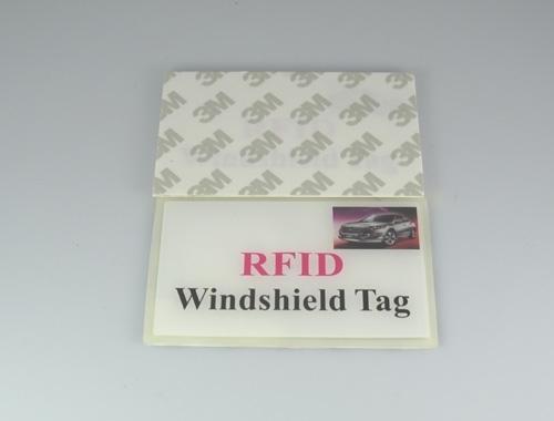 logo-printed RFID windshield tags