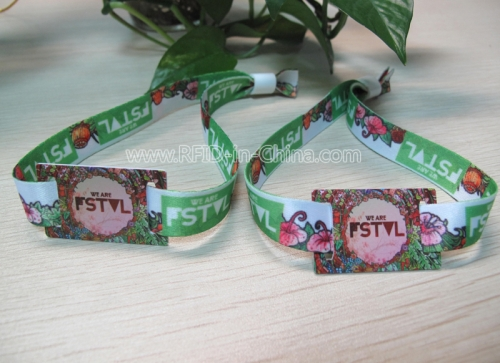 Disposable Fabric RFID Wristbands For Festival Management-01