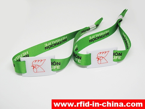 Disposable & Reusable RFID Metal Clasp Fabric Wristbands-04