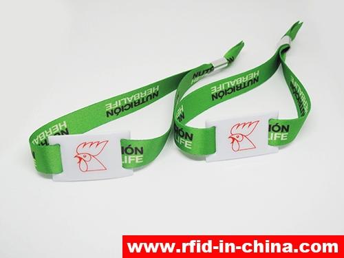 RFID Metal Buckle Fabric Wristbands-68-04