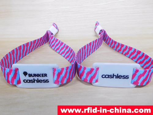 RFID One-Off Fabric Wristbands-77-02