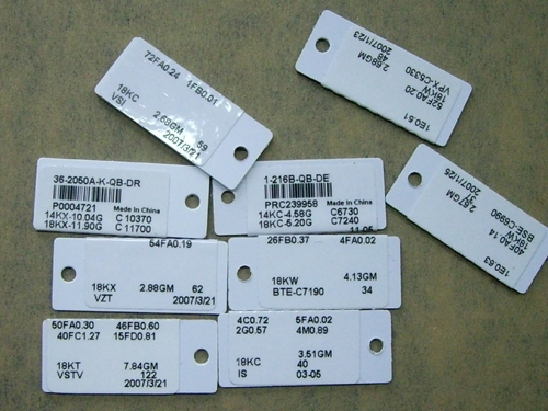 RFID tag for jewellery