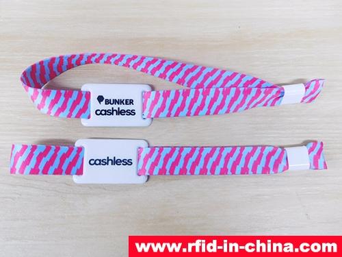 Fabric RFID Cashless Payment Wristband-04