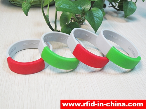 Waterproof Silicone RFID Dual Frequency Bracelets-01