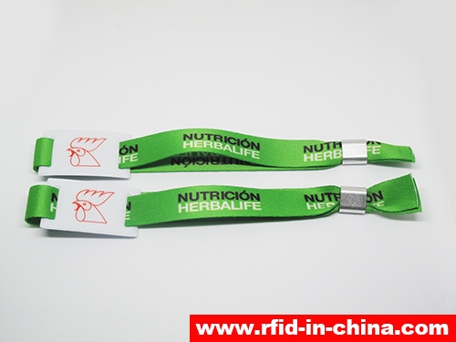 Disposable & Reusable RFID Metal Clasp Fabric Wristbands-02