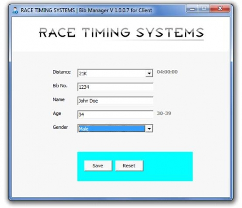 RFID Race Timing System Software