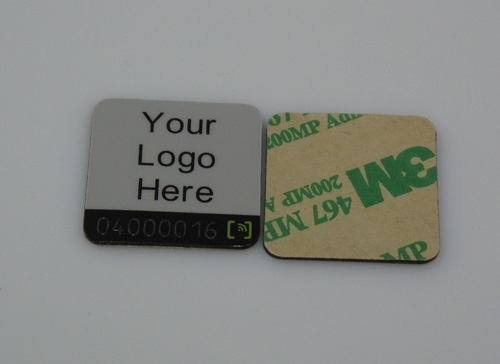 the front and back side of Metal RFID tag-12