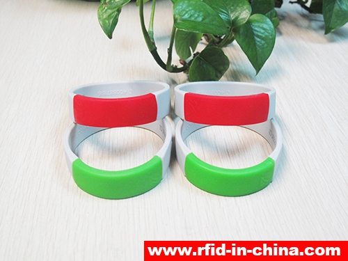 Waterproof Silicone RFID Dual Frequency Bracelets-02