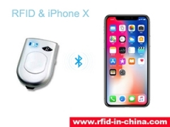 The new UHF RFID reader connect with iPhoneX which released by DAILY RFID