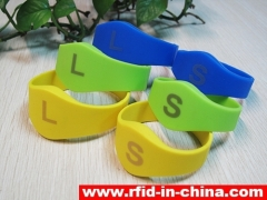 Silicone RFID Children Bracelet with laser printing released by DAILY RFID