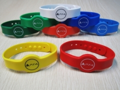 Colourful RFID custom rubber wristbands released by DAILY RFID