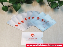 Customized Blocking RFID Sleeve produced by DAILY RFID