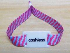 Ntag RFID Fabric Wristband For Cashless Payment Management